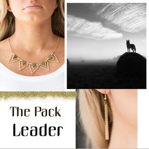 The Pack Leader Green Triangle Necklace Set